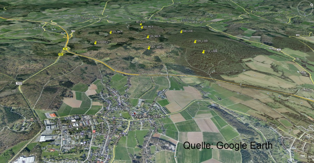 Satellitenbild Windpark